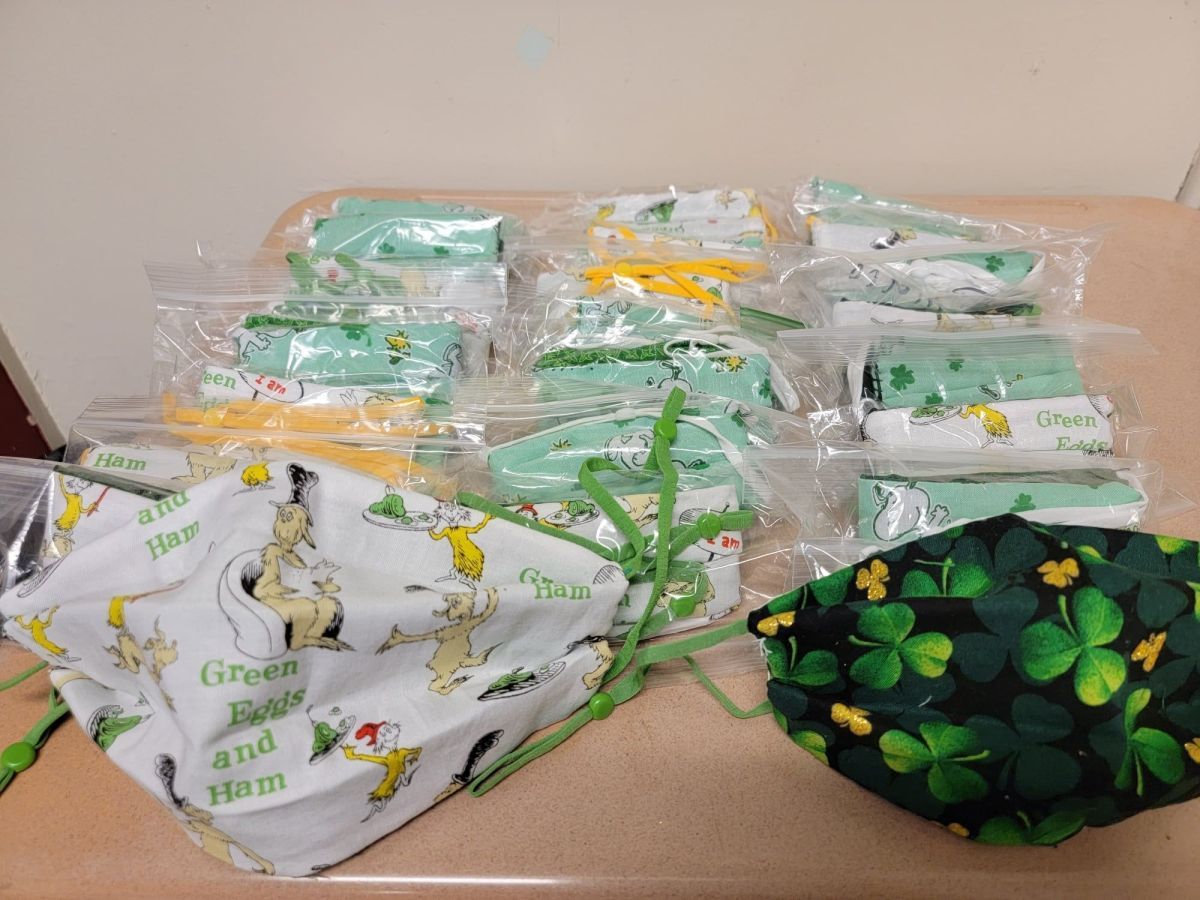 Facemasks donated by district parents in Port Orford-Langlois.