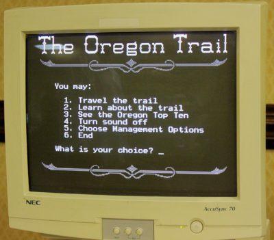 Image result for oregon trail computer