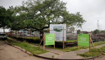 Dunbar School is currently under construction and its revitalization is especially meaningful for many community members. They see it as a future focal point to bringing back the neighborhood. (Photo by Kathleen Flynn, NOLA.com l The Times-Picayune) No reproduction
