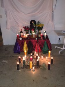 St. Expedite Ceremonial Table with Magic