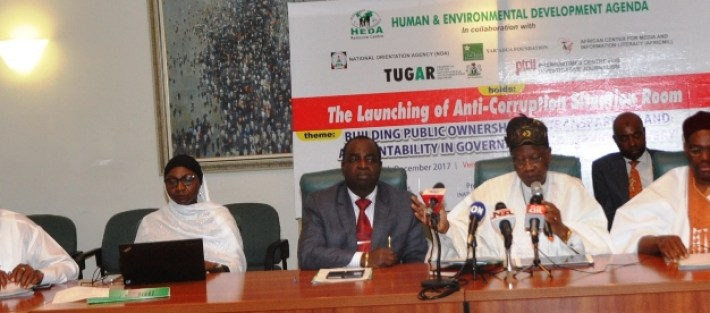 Civil Society organisation, Media groups and government agencies Launch Anti-Corruption Situation Room