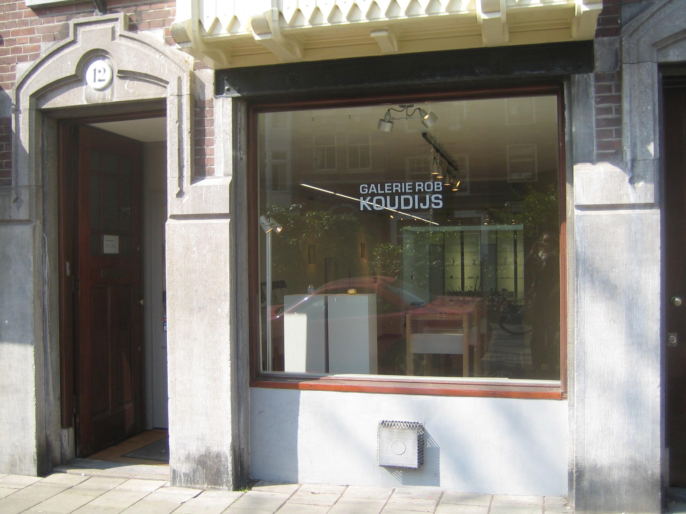 Galerie Rob Koudijs, Elandsgracht Amsterdam, 2015, gevel