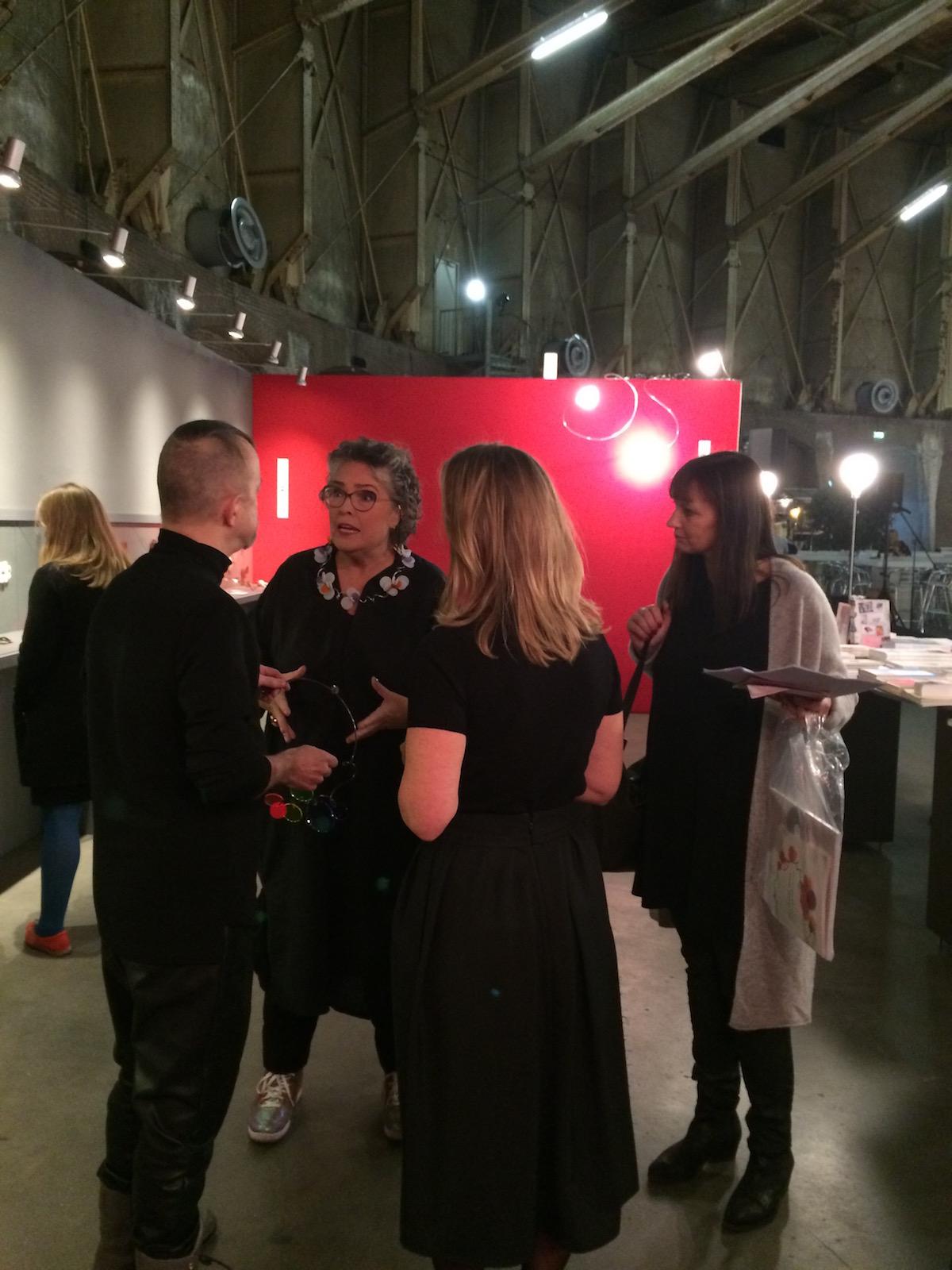 Sieraad Art Fair tijdens de opening op 10 november 2016, foto Arjen Veldt, portret, beurs, Paul Derrez, Isabella van den Bos, prinses Margarita, Gashouder, Westergasfabriek, Amsterdam