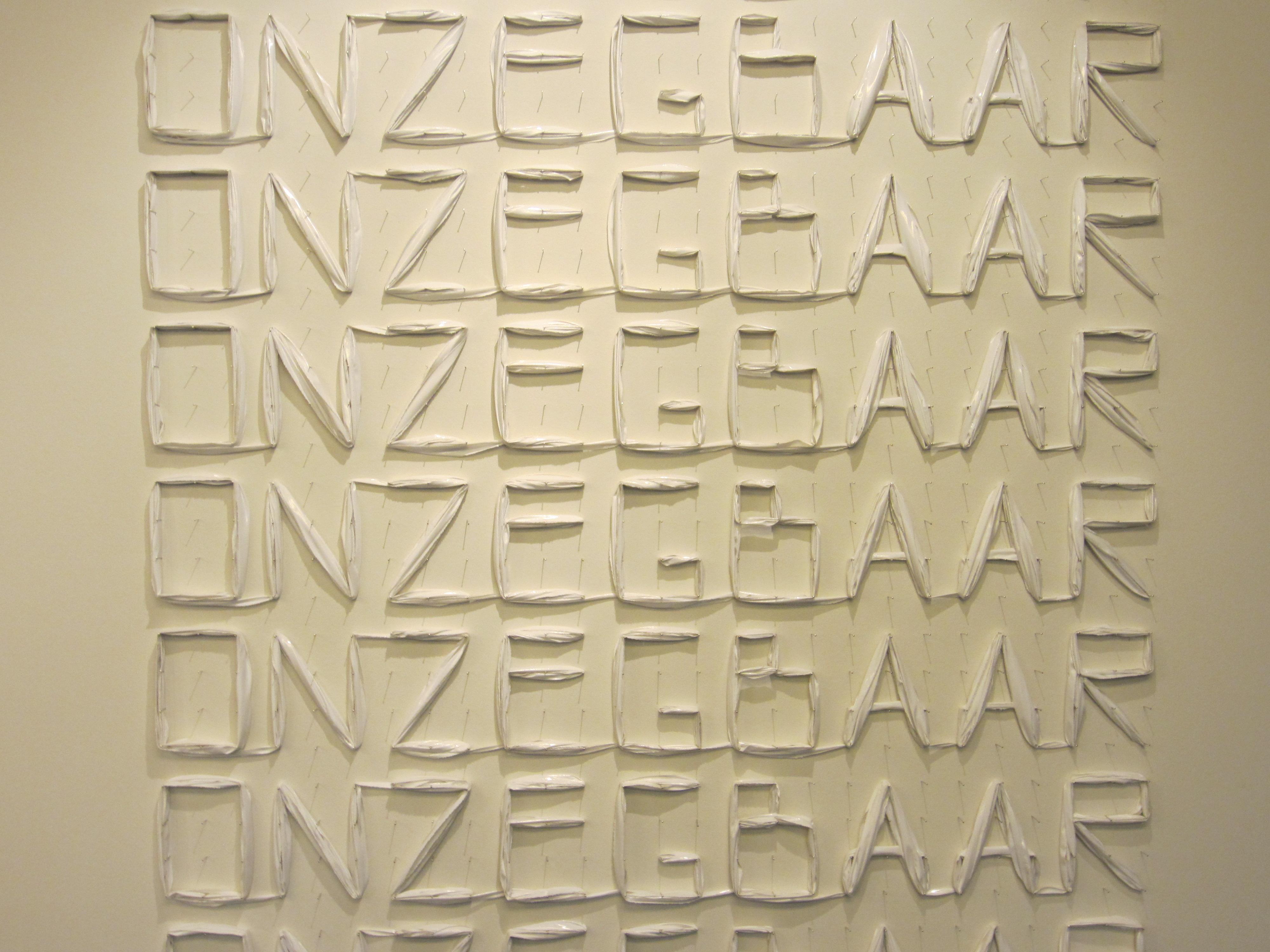 Lam de Wolf, 3 februari 2012, wandobject, kunststof