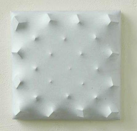 Beppe Kessler, Grey blocks, schilderij, canvas, hout, verf