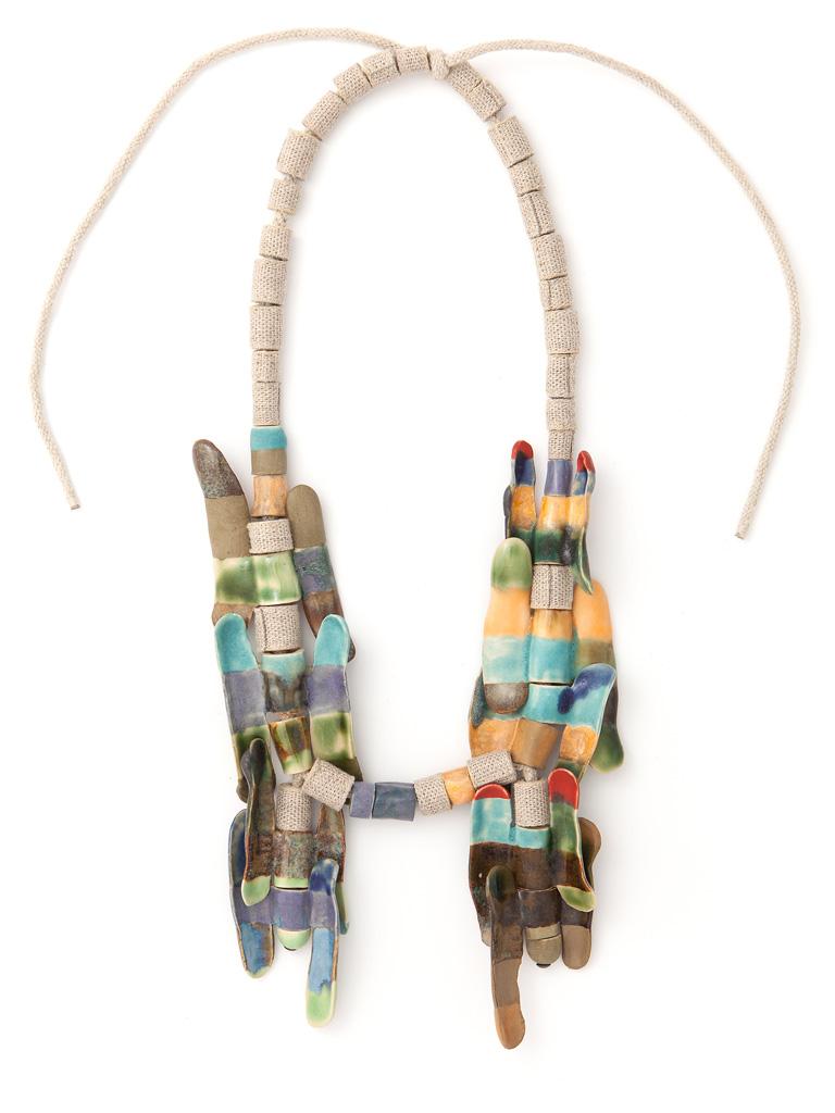 Ineke Heerkens, Via della Lungaretta, 2014-2015, textiel, keramiek