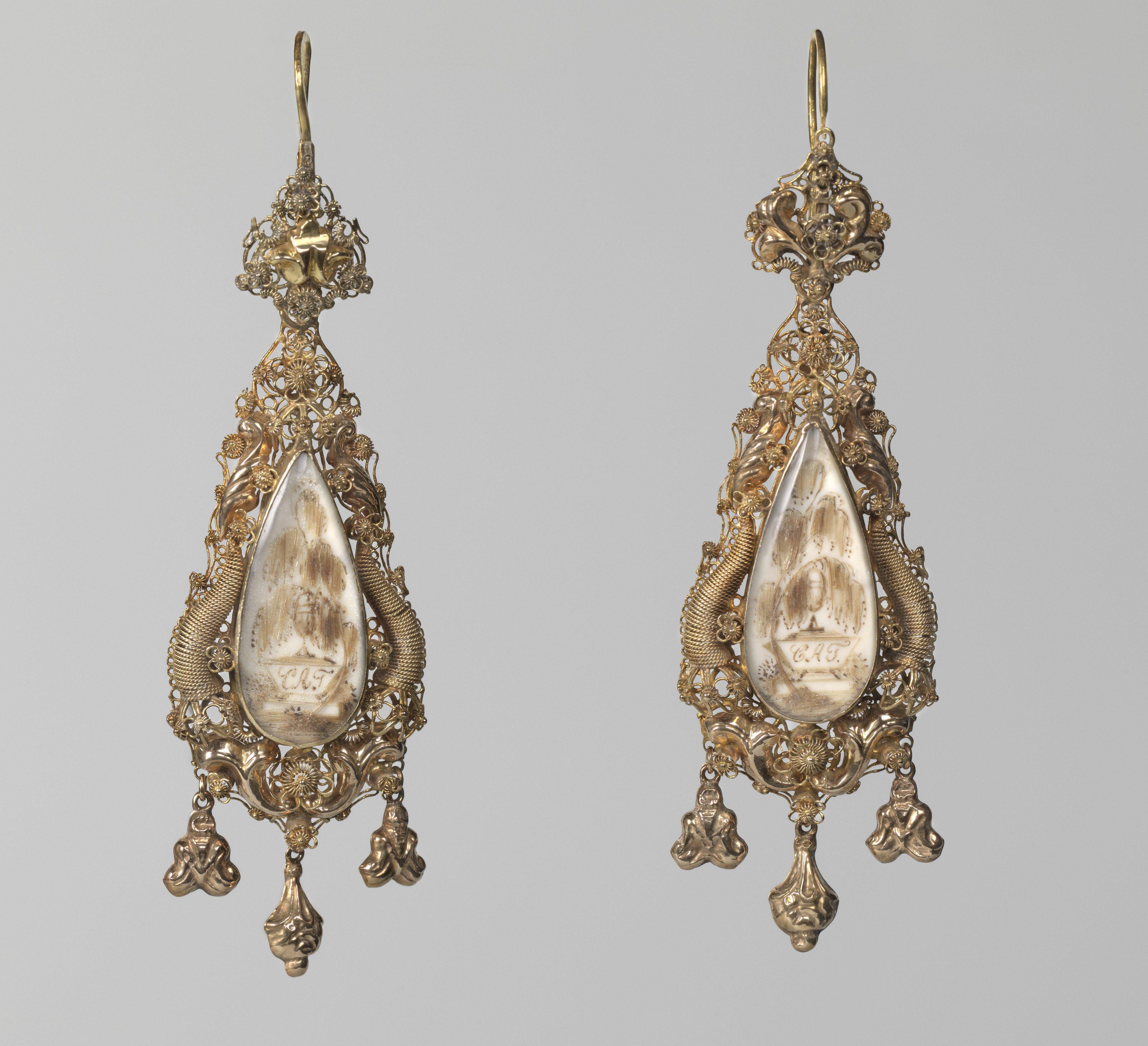 Muhlenschmidt en Schammer, oorsieraden, 1841. Collectie Rijksmuseum, BK-1968-55-A en B, publiek domein, CC0 1.0