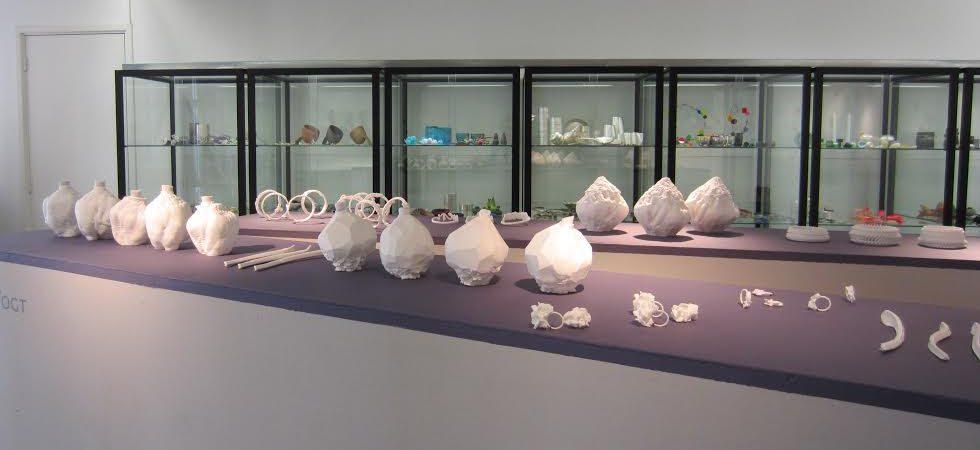 Luzia Vogt in Galerie Ra. Foto met dank aan M.O.©
