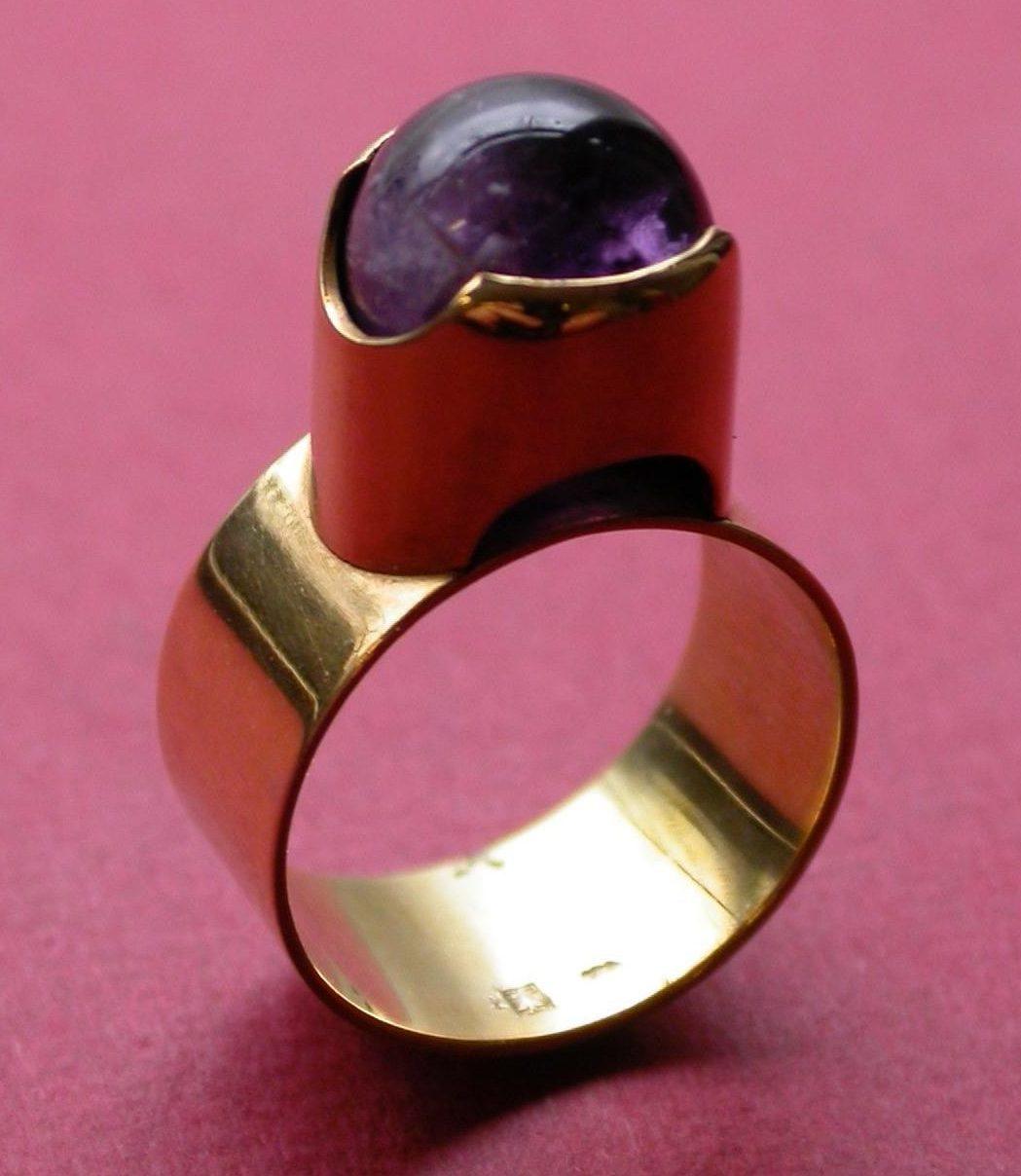 Riet Neerincx, ring, 1966, goud, amethist
