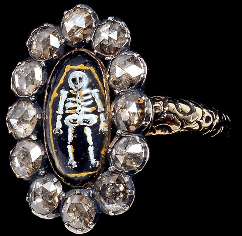 Memento mori, ring, circa 1730. Collectie Katharina Faerber. Foto met dank aan ADAGP, KFaerber©