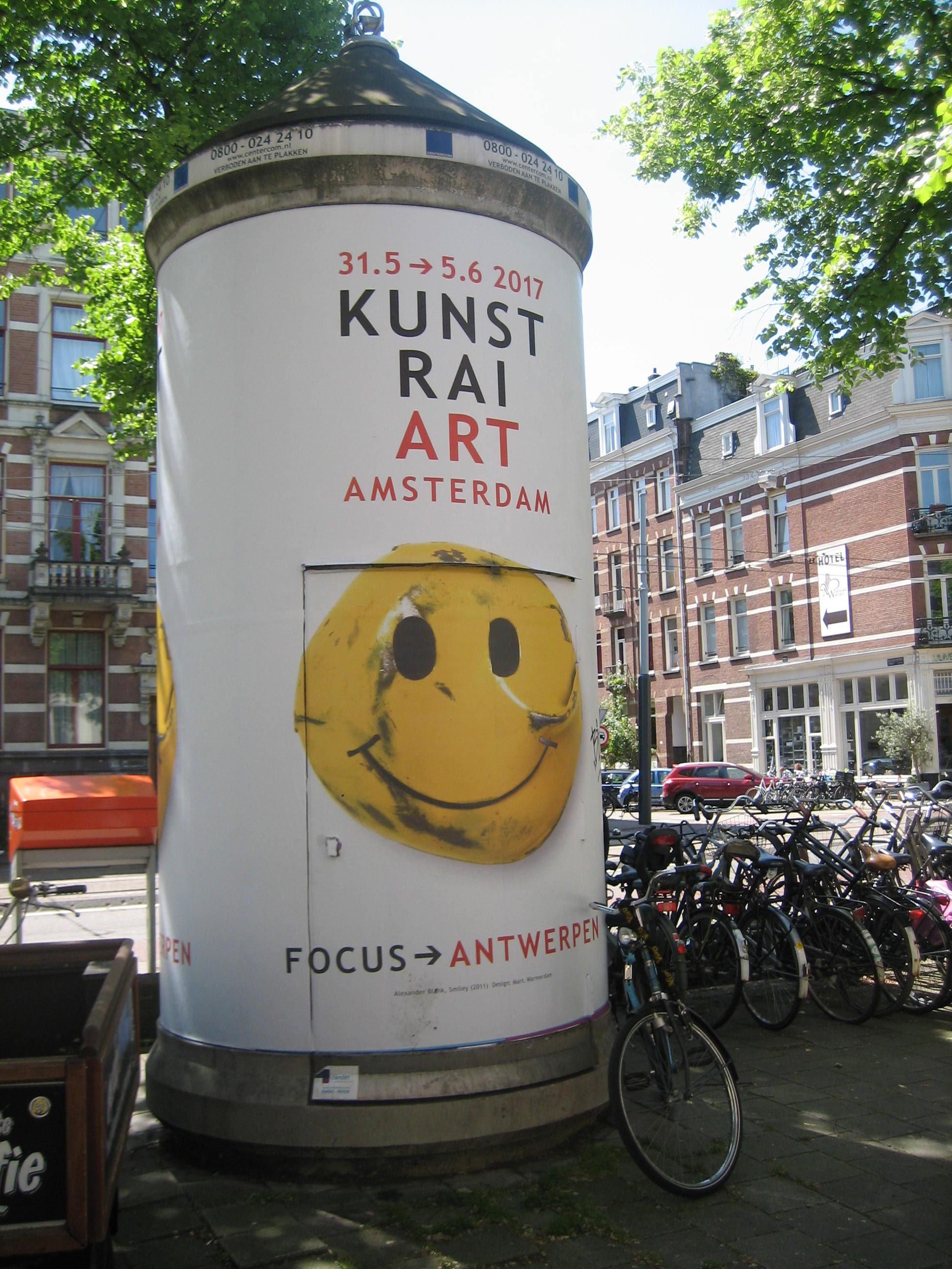 Alexander Blank, broche op affiche KunstRAI 2017, Amsterdam. Foto Esther Doornbusch, CC BY 4.0