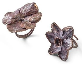 Claude Lalanne, Flower Rings. Courtesy of Louisa Guinness Gallery©