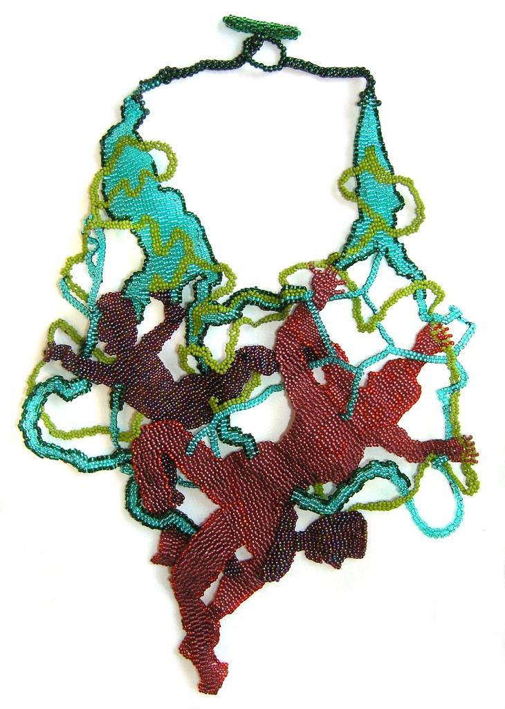 Joyce J. Scott, Ribbon Dancers, halssieraad, 2009, kralen