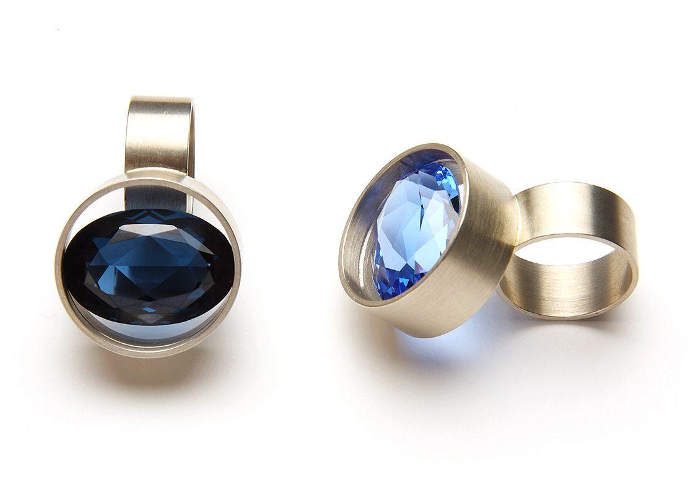 Herman Hermsen, ringen, zilver, stenen