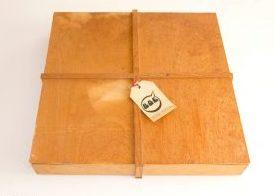 BOE-doos, hout, papier