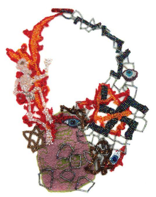 Joyce J. Scott, Holocaust Necklace, halssieraad, 2013, kralen