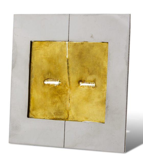 Onno Boekhoudt, broche, 1969. Collectie Ida Boelen-van Gelder. Fotografie Aldo Smit, goud, staal