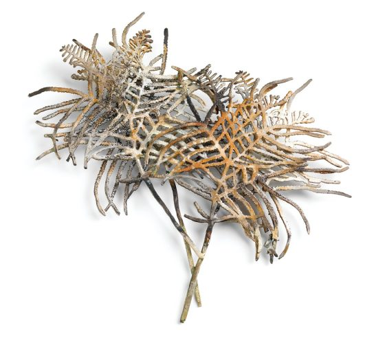 Marian Hosking, Coral fern, broche, 2008. Collectie Daalder. Foto Grant Hancock, metaal