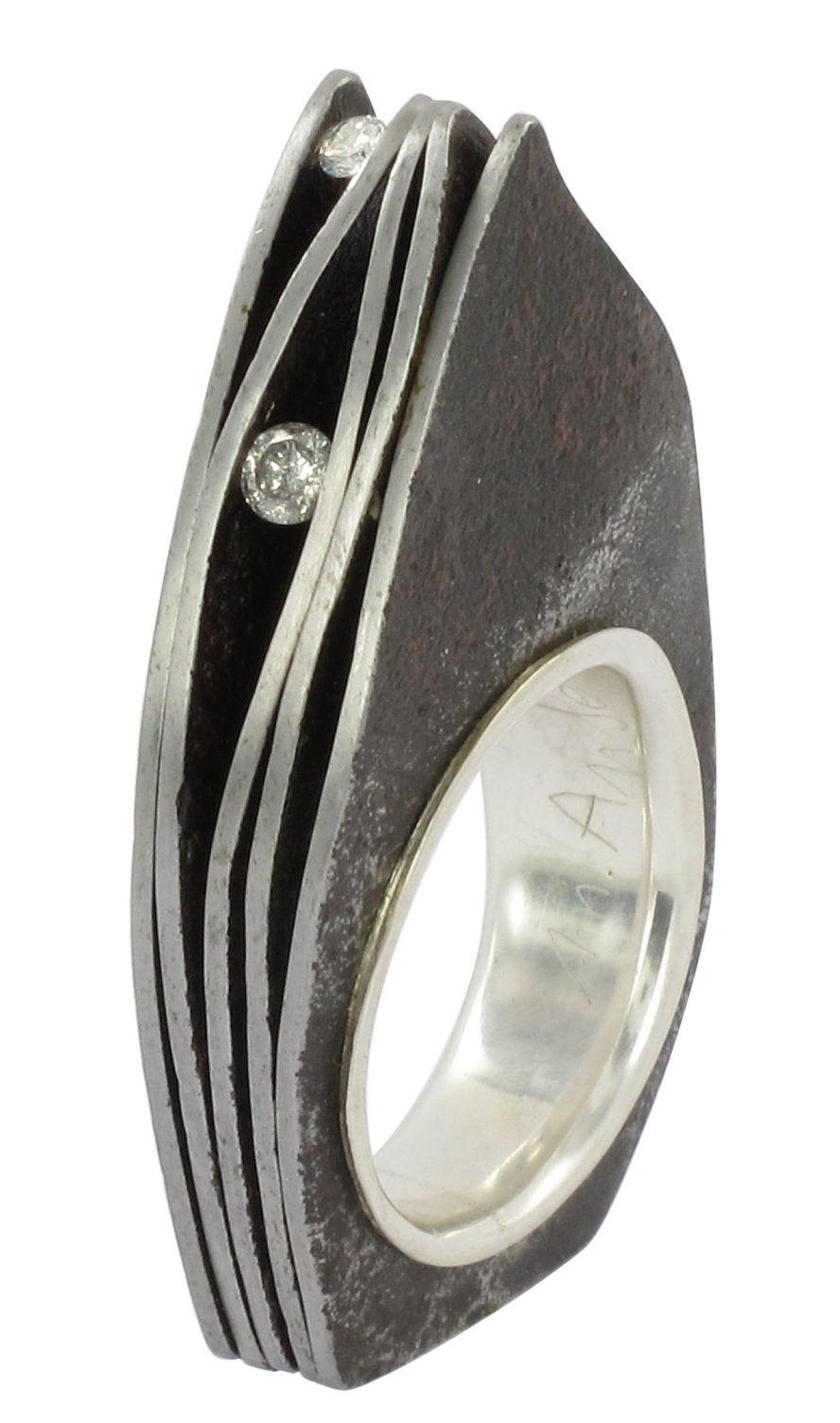 Marianne Anselin, ring, metaal, diamanten