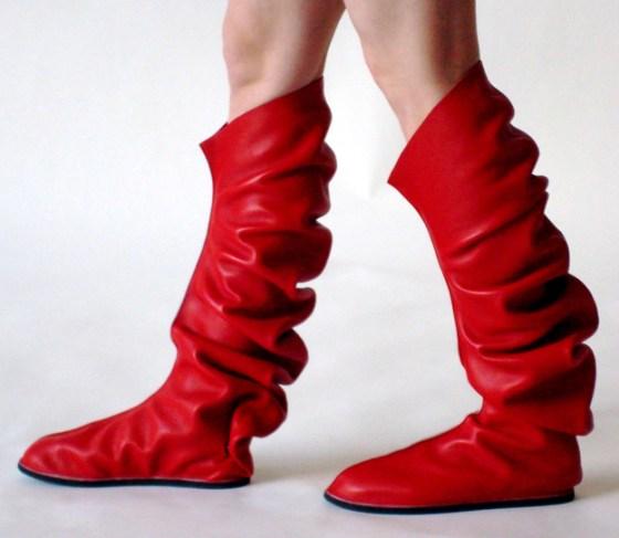 Maria Blaisse, C-shoes, schoenen, 2008, leer