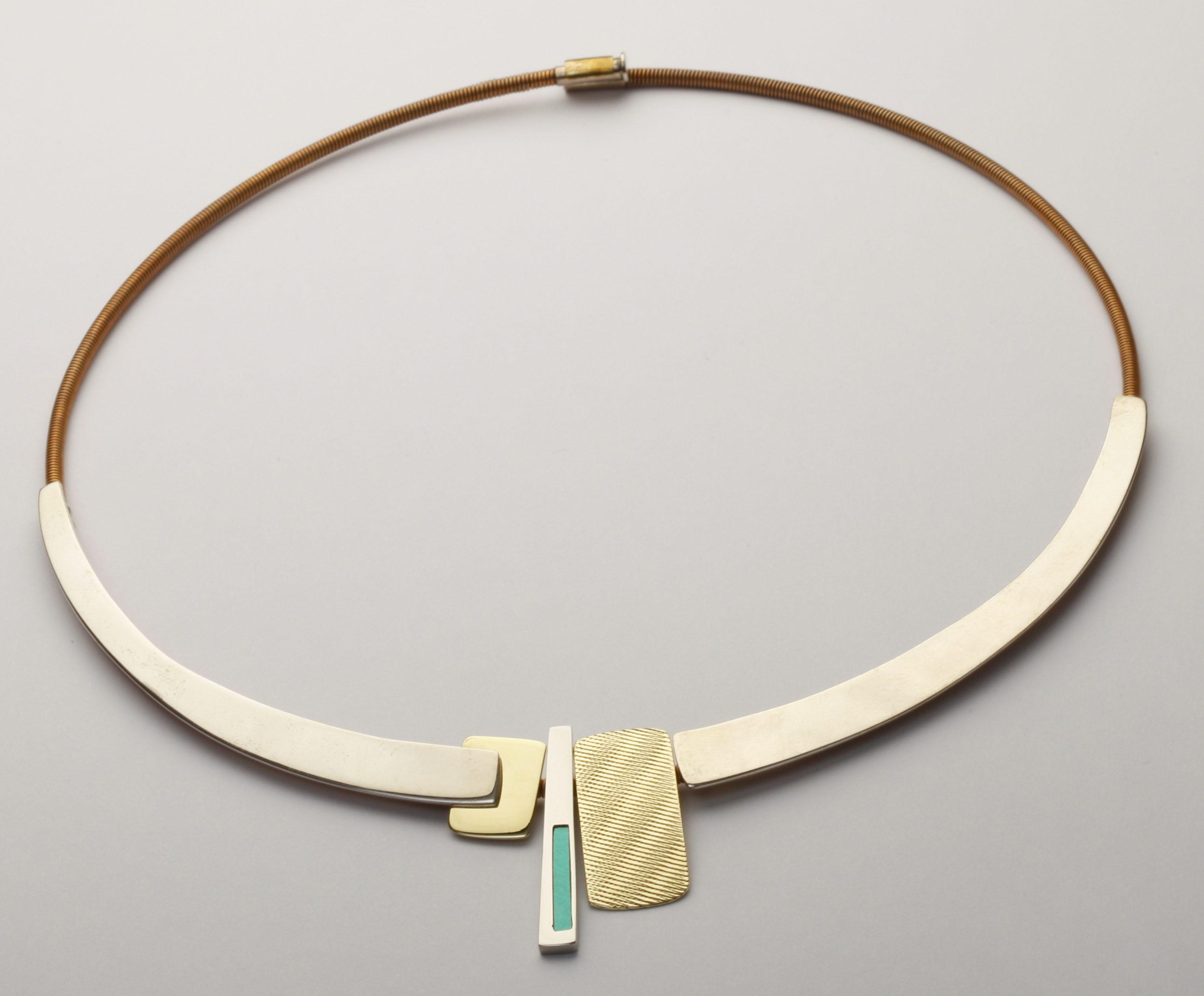 Karel Betman, halssieraad, goud, zilver, aluminium, roestvrij staal
