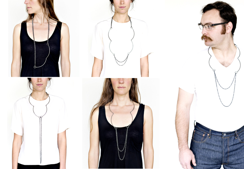 Rebekah Frank, Rectangle Series, halssieraden, 2014. Foto met dank aan Rebekah FR\rank, Mercedes Jelinek©