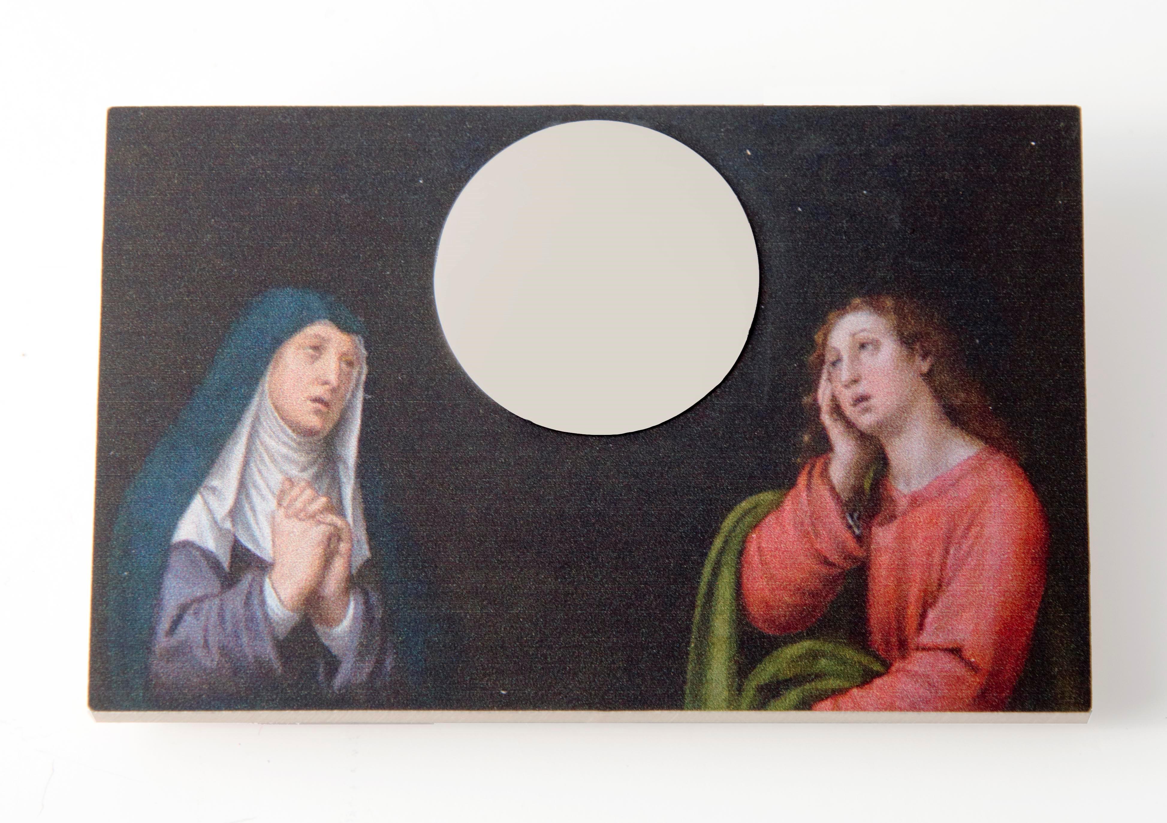 Herman Hermsen, Idol in the mirror, broche, 2016. Collectie CODA. Foto CODA, hout, metaal