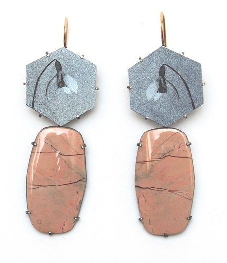 Bettina Speckner, oorsieraden, metaal, stenen