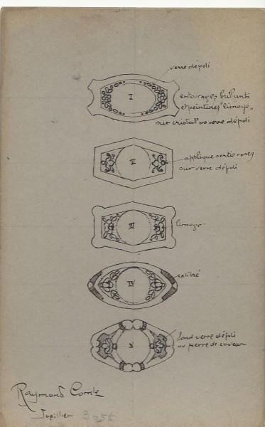 Raymond Comte, ontwerptekening. Foto met dank aan Grafische Sammlung Stern©