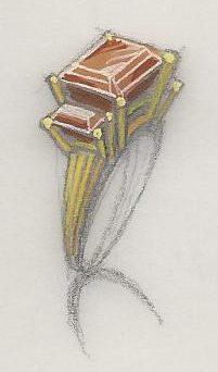 L. Franklé, ontwerptekening ring, 1930-1940. Foto met dank aan Grafische Sammlung Stern©