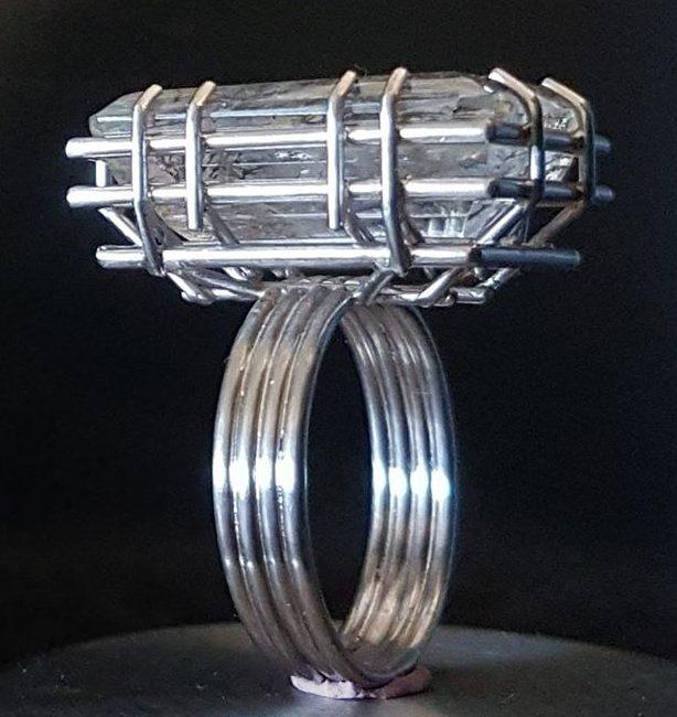 Robean Visschers, Solitair XL, ring, 2019, metaal, steen