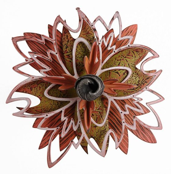 Linda Threadgill, Rosette Brooch 9-15, broche, 2015, metaal