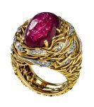 Andrew Grima, ring, 1964. Collectie Alice & Louis Koch. Foto met dank aan Donat Stuppan, Schweizerisches Nationalmuseum, goud, stenen