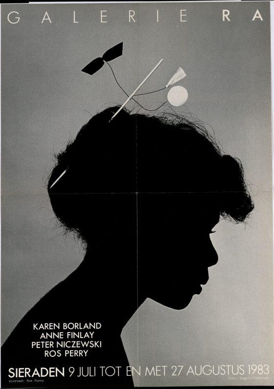 Ra Bulletin 4, juli/augustus 1983, voorzijde met poster, sieraad van Ros Perry, foto Hogers/Versluys, drukwerk, papier