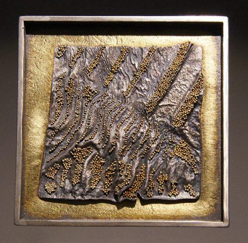 Harold O'Connor, broche/hanger, 2014, goud, zilver, granulering