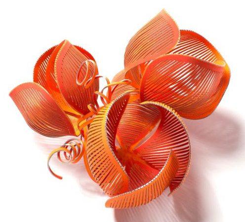 Mirjam Hiller, Blume, broche, metaal, coating