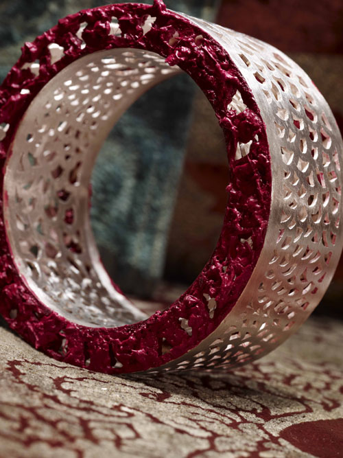 Alberto Zorzi, Islam, armband, 2008, zilver, olieverf