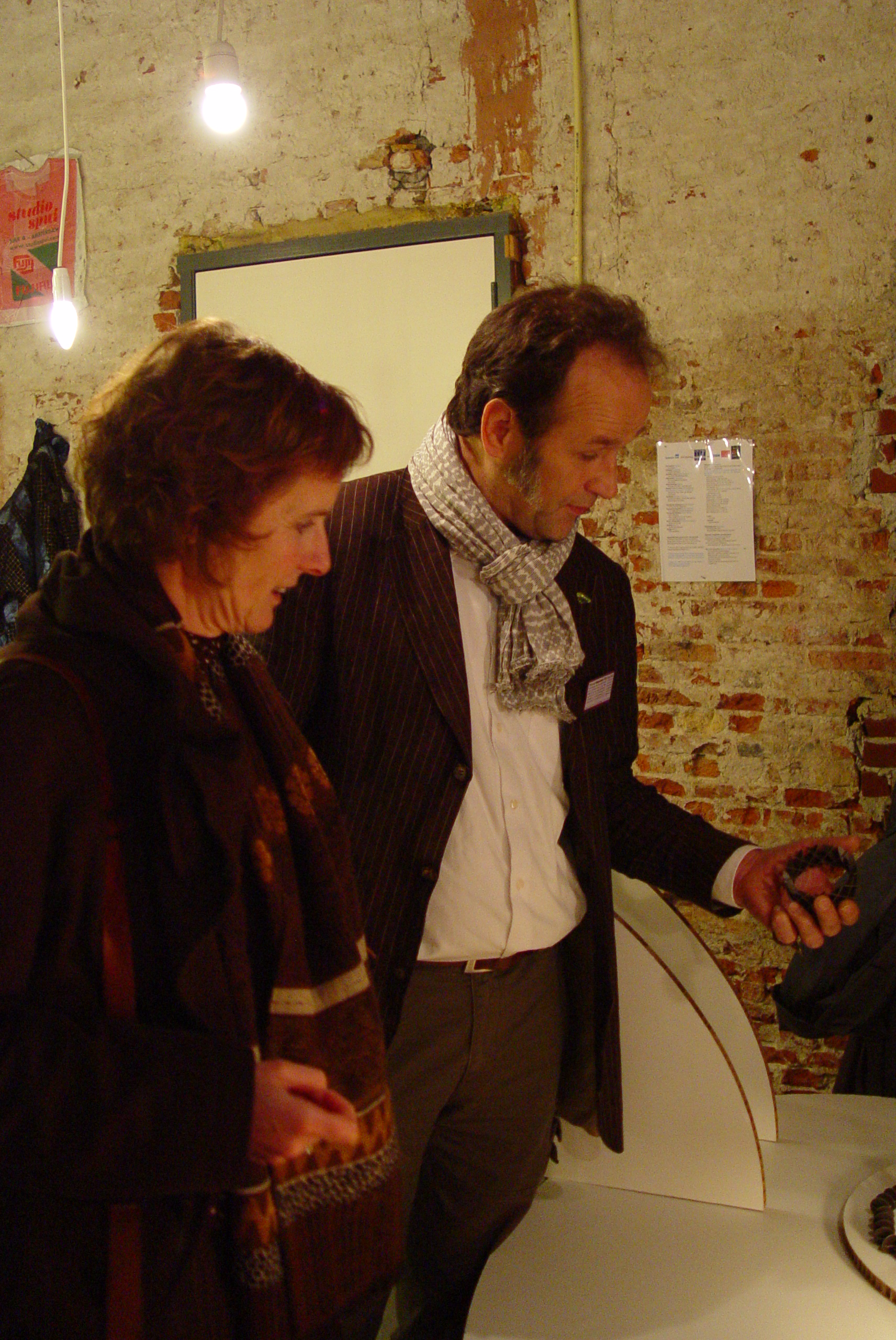 Maria Hees en Herman Hermsen, Beyond Material, tentoonstelling, portret, foto Birgit Laken