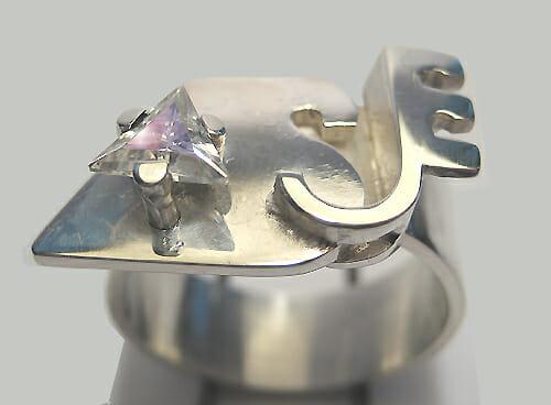 Ben Wisman, Asje, ring, 2012, zilver, steen
