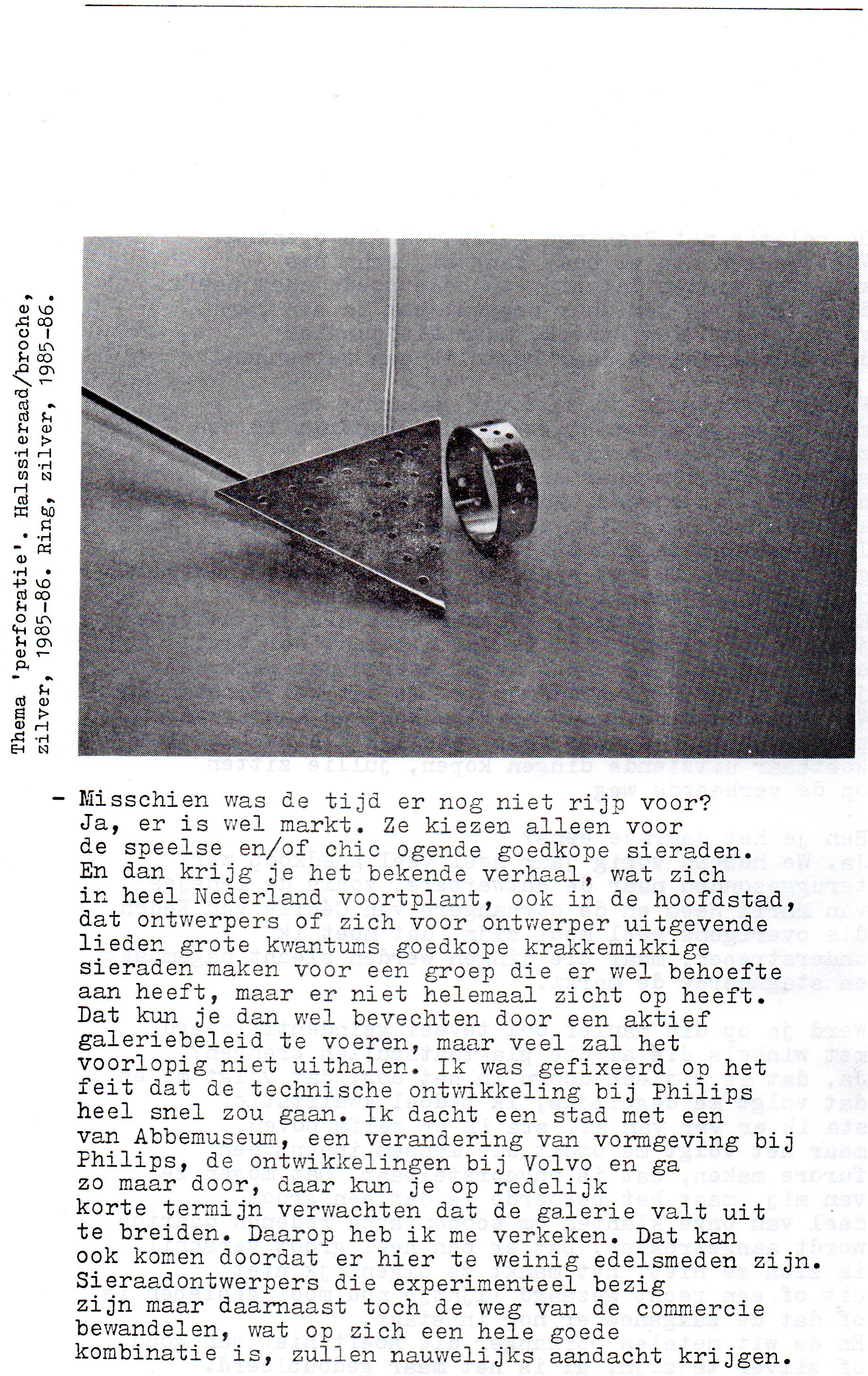 Clemens van den Broeck in het VES bulletin, 7, typoscript, papier