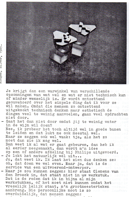 Clemens van den Broeck in het VES bulletin, 12, papier, typoscript