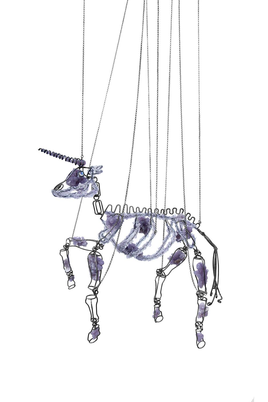 Koen Jacobs, Unicórnio, marionet, 2019, zilver, labradoriet, amethist, celadoniet