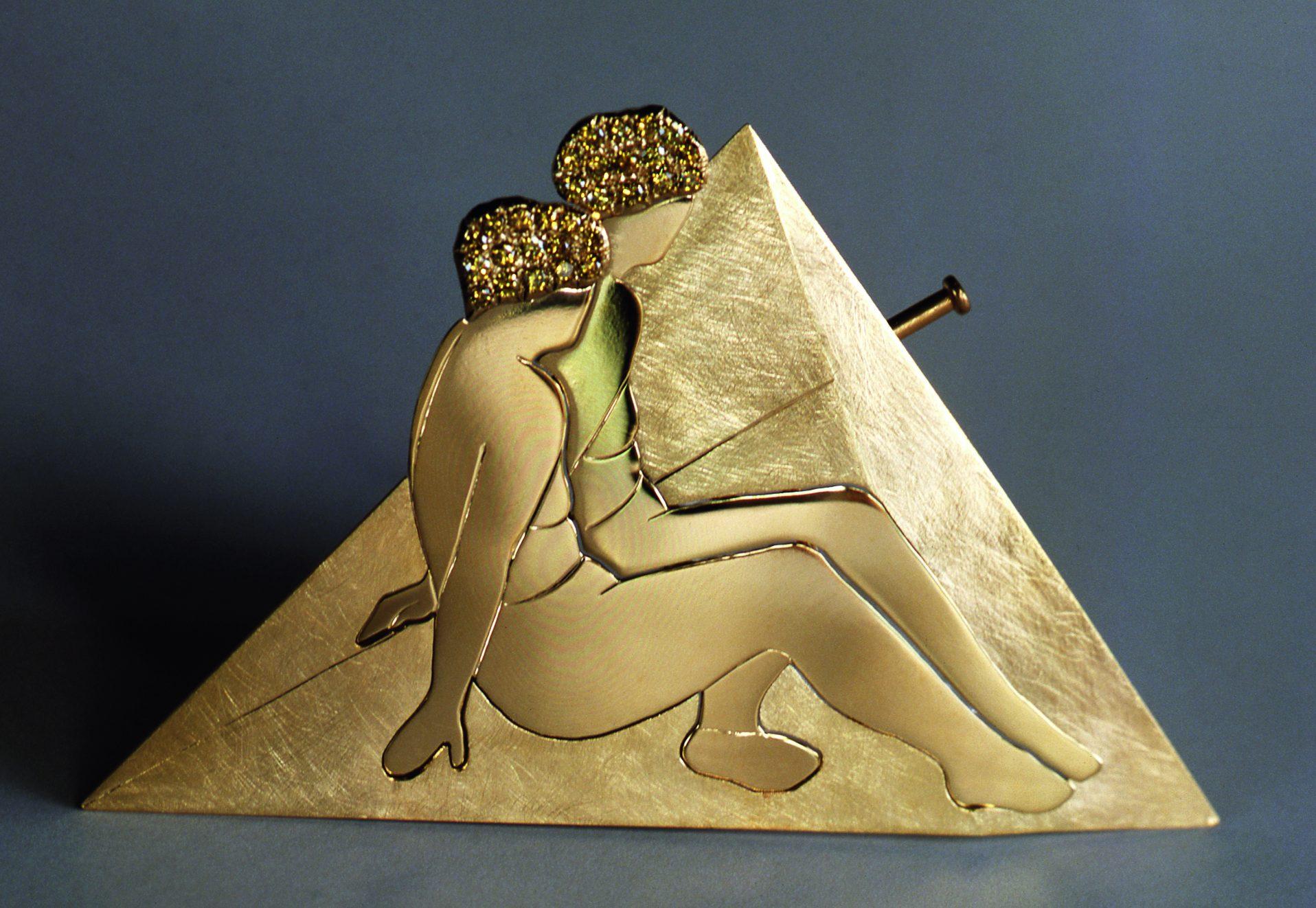 Margareth Sandström, broche, 1982, goud, diamant