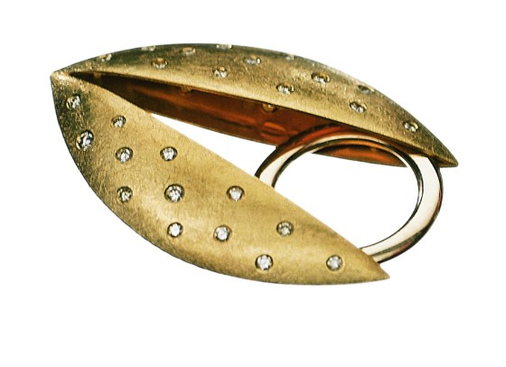 Margareth Sandström, ring, 2000. Collectie Nationalmuseum Stockholm, goud, diamant