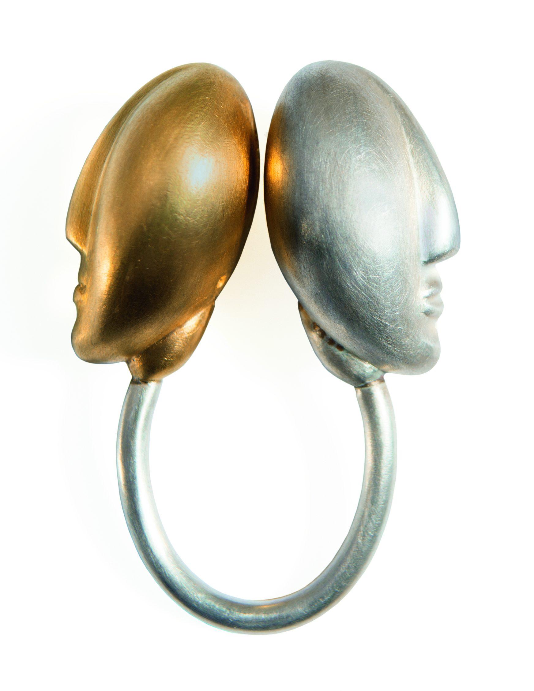 Margareth Sandström, ring, 2012, zilver, goud