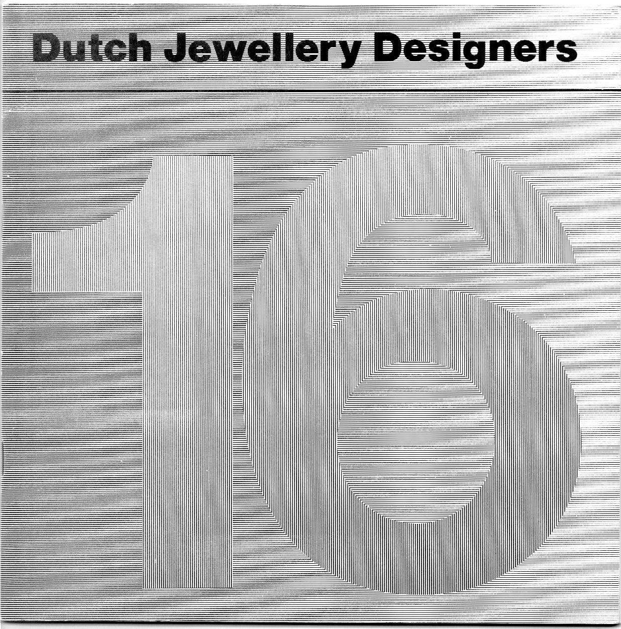 16 Dutch Jewellery Designers, omslag publicatie (1985) bij reizende tentoonstelling, papier