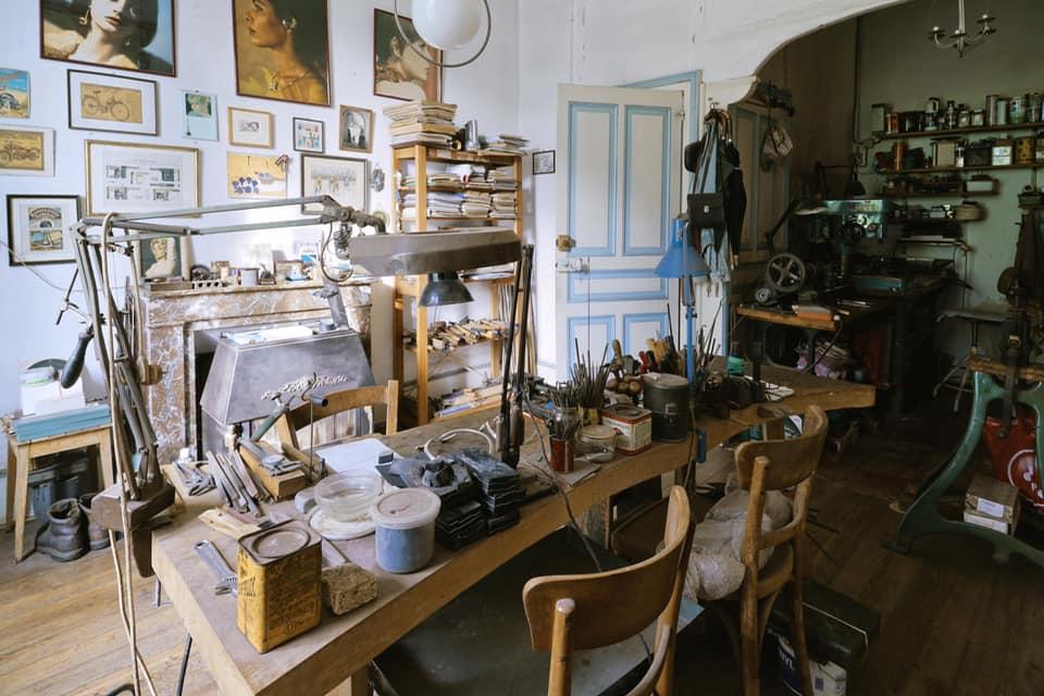 Château Bouquetraud, atelier Bernard Laméris, 2020. Foto Nana Ruegebrink