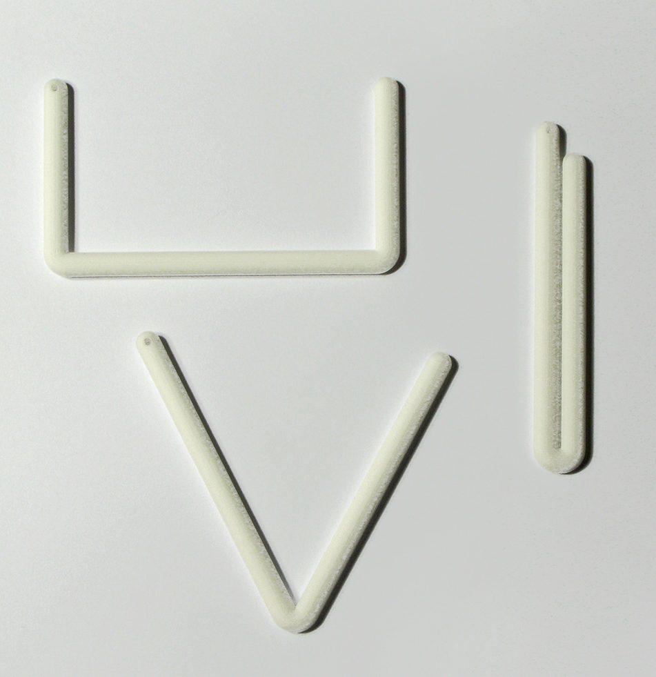 Marc Monzó, hangers, 2011, geprint nylon