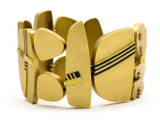 Rena Koopman, armband, metalen, goud, shakudo
