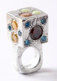 Karl Fritsch, ring, 2014, aluminium, cubic zirconia